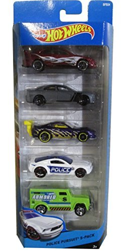 Hot Wheels, 2014 HW City, Police Pursuit 5-Pack [4 Cars and an Armored Truck]