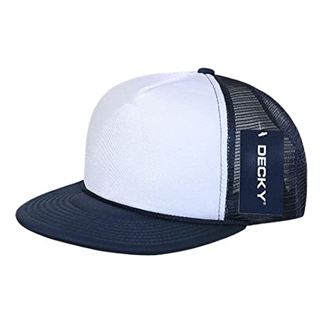 Buy DECKY 224-NVY Two Tone Flat Bill Foam Caps 3be02bae168