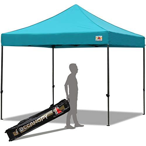 ABCCANOPY Pop up Canopy Tent Commercial Instant Shelter with Wheeled Carry Bag, 10x10 FT Turquoise
