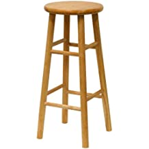 Winsome Wood 30-Inch Beveled Seat Barstool with Natural Finish, Set of 2