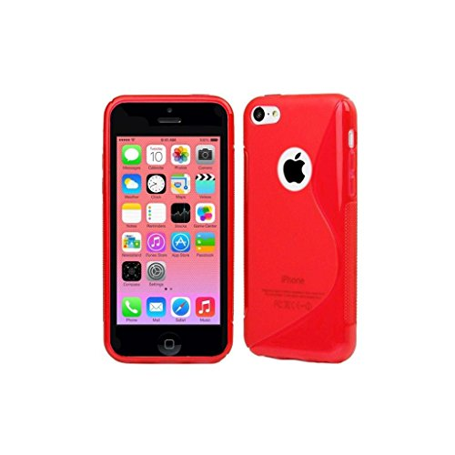 Stunning Style Apple Iphone 5 5G 5S Red Silicone Gel S Line Grip Case Cover For Apple Iphone 5 5G 5S By G4GADGET®