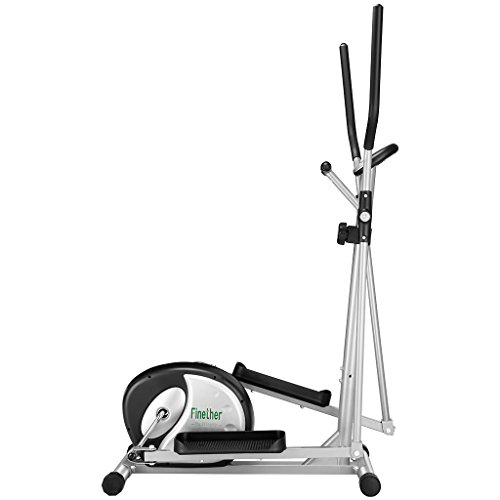 Finether Home Fitness Exercise Bike:Magnetic Elliptical Cross Trainerwith 8...