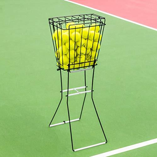Vermont Tennis Ball Hopper Basket [72 Ball Capacity] - Steel Frame & Lockable - Ball 72 Bucket