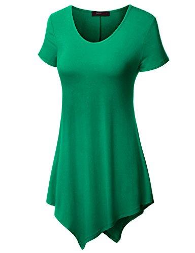 Doublju Womens Short Sleeve Asymmetrical product image