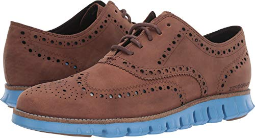 Cole Haan Men's Zerogrand Wingtip Oxford Leather Dark Coffee Leather/Brazilian Sand/Pacific Coast 7 D US