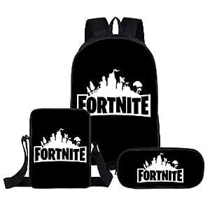 Shareculture Fortnite Backpack 3 in 1 Fortnite Bag School Backpacks Fortnite Pencil Case Fortnite Lunch Bag Travel Shoulder Bag