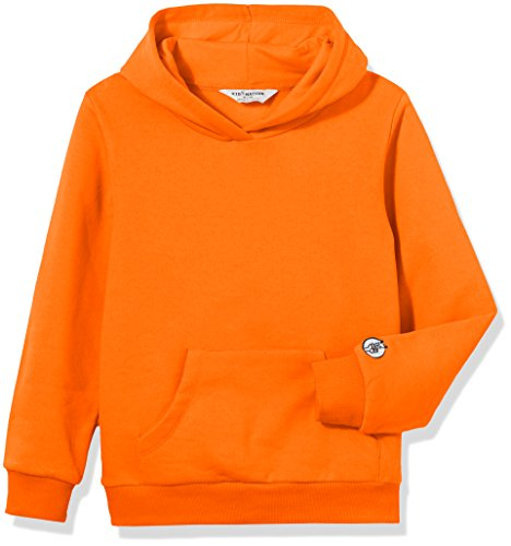 Knit Hooded Pullover - Kid Nation Kids' Solid Fleece Hooded Pullover Sweatshirt for Boys or Girls XL Orange