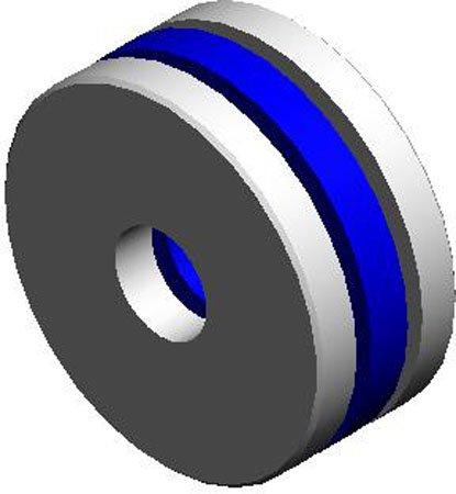 1/8 Nom I.D., 7/16 Nom. O.D., .0938 Ball, .190 to .196 Thk., Nylon Ball Retainer Thrust Bearings, Steel (1 Each)