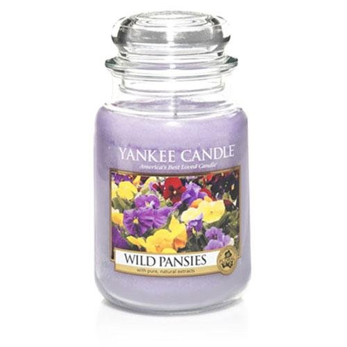 Yankee Candles Wild Pansies Large Jar Candle,Fresh Scent