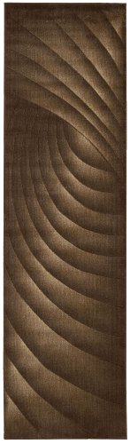 """Nourison Somerset (ST75) Chocolate Runner Area Rug, 2-Feet 3-Inches by 8-Feet  (2'3"""" x 8')"""
