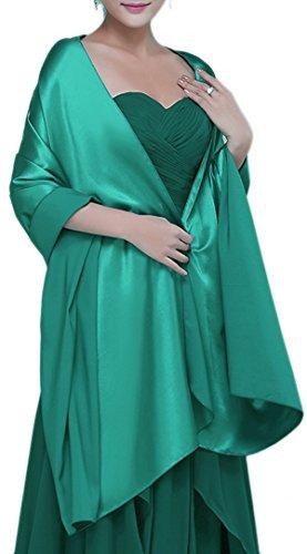 Alivila.Y Fashion Womens Satin Soft Long Wrap Scarf Shawl-Emerald Green ()