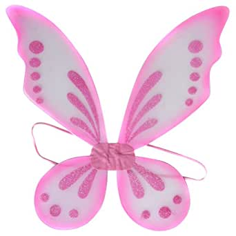 Amazon.com: Girls Pastel Pink Fairy Pixie Butterfly Wings