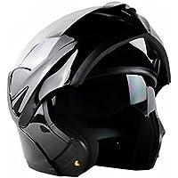 ILM 10 Colors Motorcycle Flip up Modular Helmet DOT (M,...