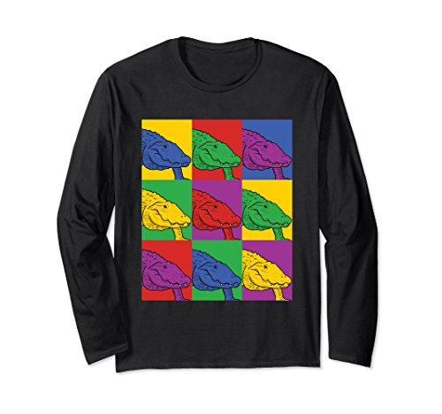 Alligator Long Sleeve - Unisex Alligator Pop Art Long Sleeve Shirt - Crocodile 2XL Black