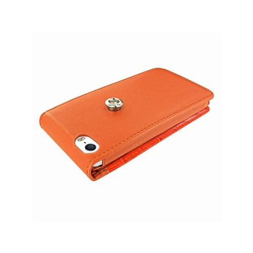 Piel Frama 595SWN Swarovski Ledertasche für Apple iPhone 5/5S orange