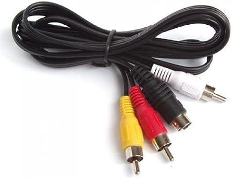 4 Pines S-Video a 3 RCA hembra TV Adaptador Cable para ordenador portatil R SODIAL