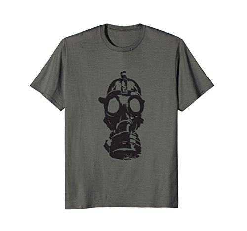 Green Day Gas Mask (Gas Mask Cool Novelty Graphic Everyday T-shirt Tee)