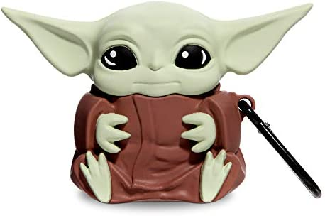 AirPods Case Cover Compatible with Apple Airpods Case| cute airpod cases | Silicone airpod case with Keychain | AirPods Case for Girls Boys Kids Teens (baby yoda )[Patent Registered]