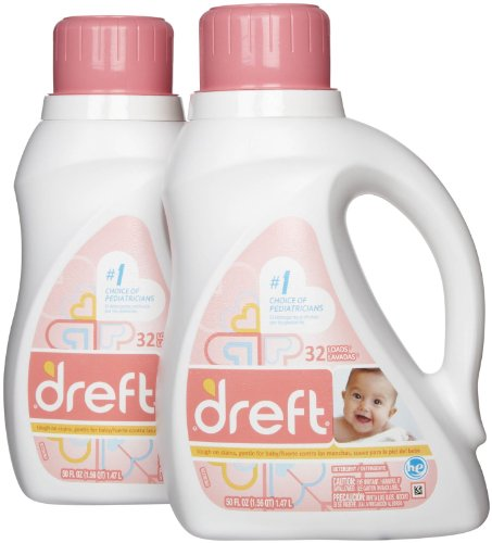 Price comparison product image Dreft Stage 1 Newborn HE Baby Laundry Detergent - 50 oz - 2 pk