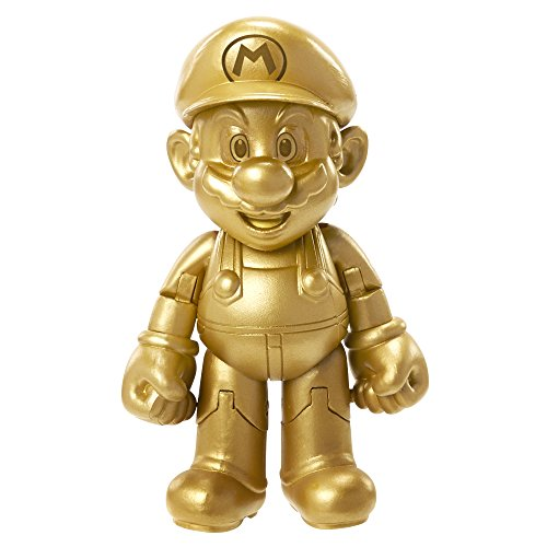 "World of Nintendo 91447 4"" Gold Mario Action Figure"