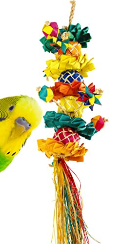 03336 Small Flower Tower Bird Toy Cage Toys Cages Foraging Chew Shredder Conure