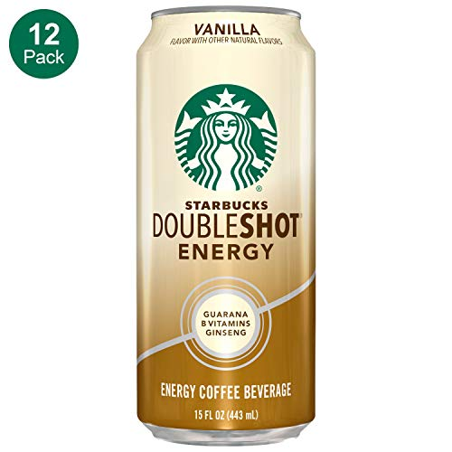 Starbucks, Doubleshot Energy Coffee, Vanilla, 15 fl oz. (12 Pack)