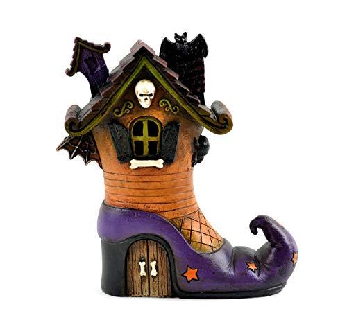 Adjore Fairy Garden Halloween Miniature - LED Haunted Witch House - Outdoor Garden Statue - Best Outdoor Accessory - 6
