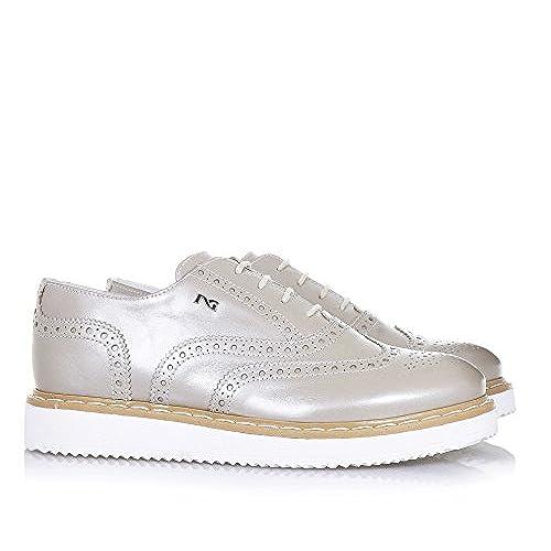 marron à à NERO l'anglaise GIARDINI Chaussure lacets clair TlcF1JK3