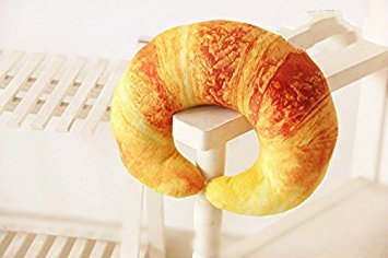 XIAOYING Shrimp Croissant Pepper U Shaped Neck Pillow Throw Pillow Cushion Plush Toy (Croissant )