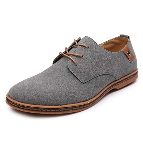 Men's Oxfords Business Dress Shoes Sneakers Mens Casual Oxford Shoes Breathable Flat Fashion Sneakers-AopnHQ