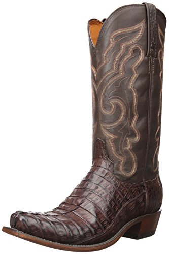 Image of Lucchese Bootmaker Men's Franklin Western Boot, Barrel Brown/Chocolate, 11.5 D US