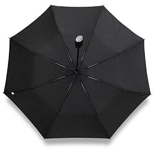 Audi genuine leather handle Japanese brand sun rain Umbrella 3 Fold Anti UV French royal umbrella men women (Black) by Pinsjar (Image #6)
