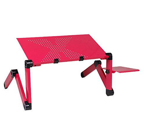 Aluminum Laptop Table Folding Table Bed Computer Table Children 's Dining Table Bed Tray Outdoor Desk by GHGJU