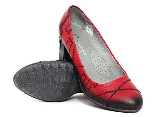 Zapatos Rot 00 rot kombi 08 Tacón De Mujeres 03378 Maciejka 5 kombi Rojo H5aPqZPw