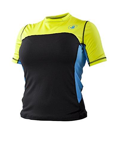 (Body Glove Women's Performance Loose Fit Short Sleeve Shirt, Viridian/Silver, Large )