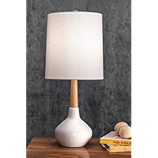 """nuLOOM Home NPT42AA Charissa Table Lamp, 25"""" Height, White"""
