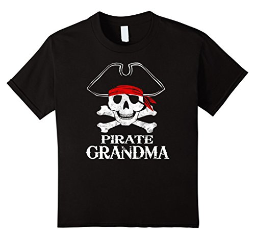 Halloween Four Costumes Family (Kids Pirate Grandma Family Halloween Costume Tee Group Costume 4)