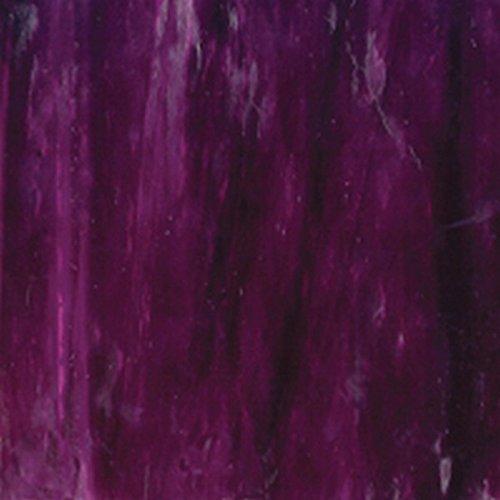 Medium Purple w/ Dark Purple Streaks Wissmach Stained Glass Sheet – 8″ X 12″ (.67sf) By Stallings Stained Glass