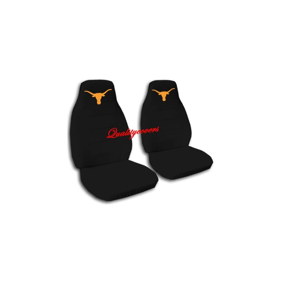 Black Longhorn seat covers. 40/60 split seat covers for a Ford F 150 Super Crew cab. Center console included