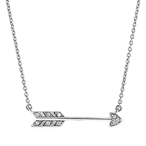 925 Sterling Silver Arrow Pendant with - Arrow Mia