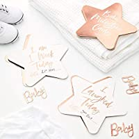 Ginger Ray Baby Shower Ideas Baby Shower Decorations for Girl Baby Milestone Cards Twinkle Twinkle Pack 24