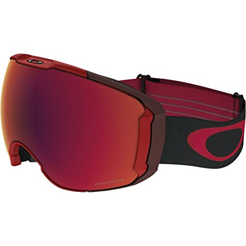 Oakley Airbrake XL Asian Fit Snow Goggles, Obsessive Lines Red Frame, Prizm Torch Iridium Lens, - Oakley Goggles Ski Red
