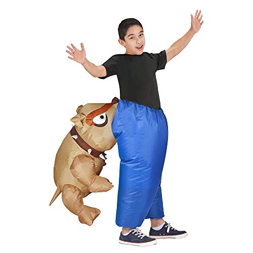 Inflatable Dog Bite Costume for Children, Standard, by Gemmy Industries -