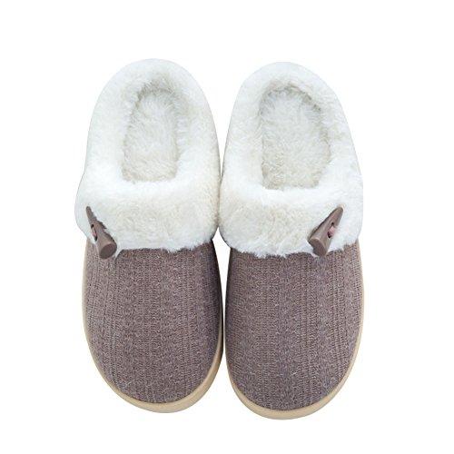 Ciabatte Invernali Da Donna Cif, Pantofole Da Casa Allaperto, Caffè