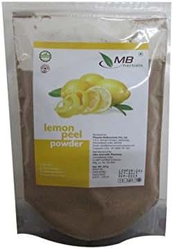 MB Herbals Lemon Peel Powder 227g | Half Pound | 100% Pure | No Bleaching Agents | for DIY Skin Brightening & Sun Tan Removing Face Packs