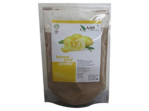 MB Herbals Lemon Peel Powder 227g | Half Pound | 100% Pure | No Bleaching Agents | for DIY Skin Brightening & Sun Tan Removing Face Packs