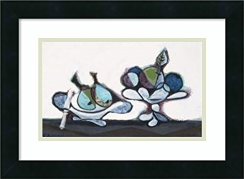 Framed Wall Art Print   Home Wall Decor Art Prints   Dish of Pears, 1936 by Pablo Picasso   Modern Decor ()