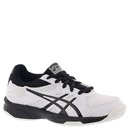 ASICS Kid's Upcourt 3 GS Volleyball Shoes, White/Black, 3 M US Little Kid