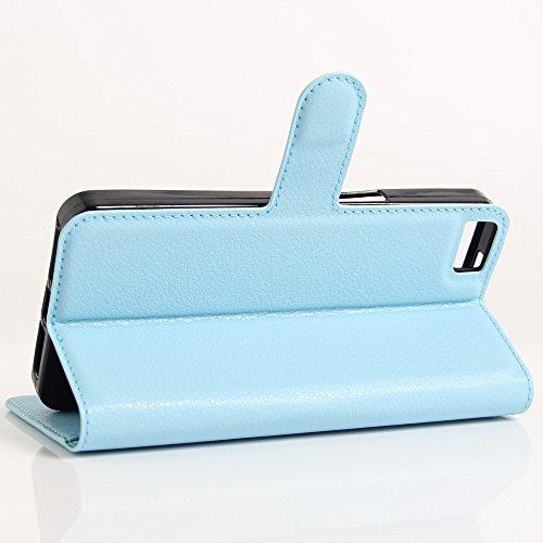 Funda Libro para BQ Aquaris M5.5, Manyip Suave PU Leather Cuero Con Flip Cover, Cierre Magnético, Función de Soporte,Billetera Case con Tapa para Tarjetas D