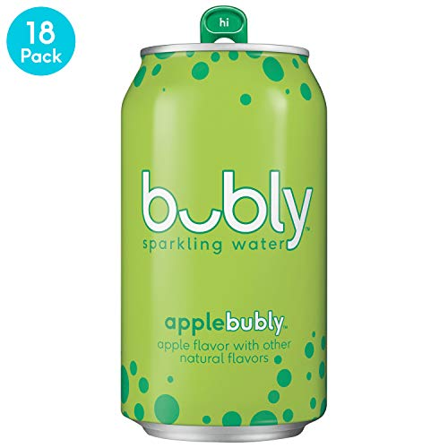 bubly Sparkling Water, Apple, 12 Fl Oz, Pack of 18